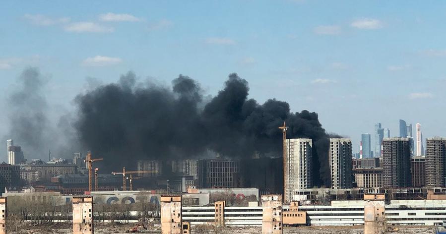 В Москве горел ЖК «ЗИЛАРТ»