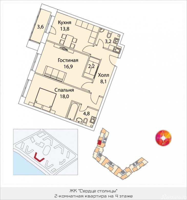 Продать Квартиры в новостройке Москва,  Хорошево-Мневники, Шелепихинская наб