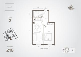 Фото планировки Monodom на Малом от Sun Development. Жилой комплекс Монодом на Малом