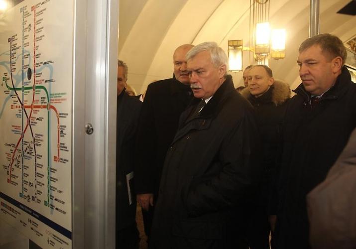Губернатор Полтавченко оценил строительство кольца Петербургского метрополитена в очень далеком будущем в 300 млрд рублей