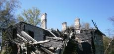 В Фабричном Поселке в Красном Селе сгорел еще один дом-памятник начала 20 века