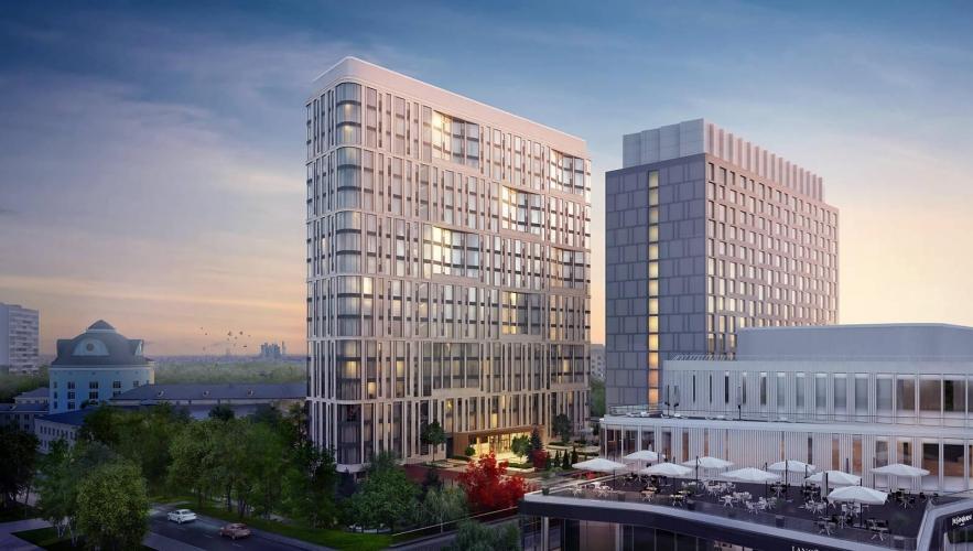 Компания «МэджиКом» приступила к строительству корпуса апартаментов в составе МФК «Ленинский 38» на месте гостиницы «Спутник»