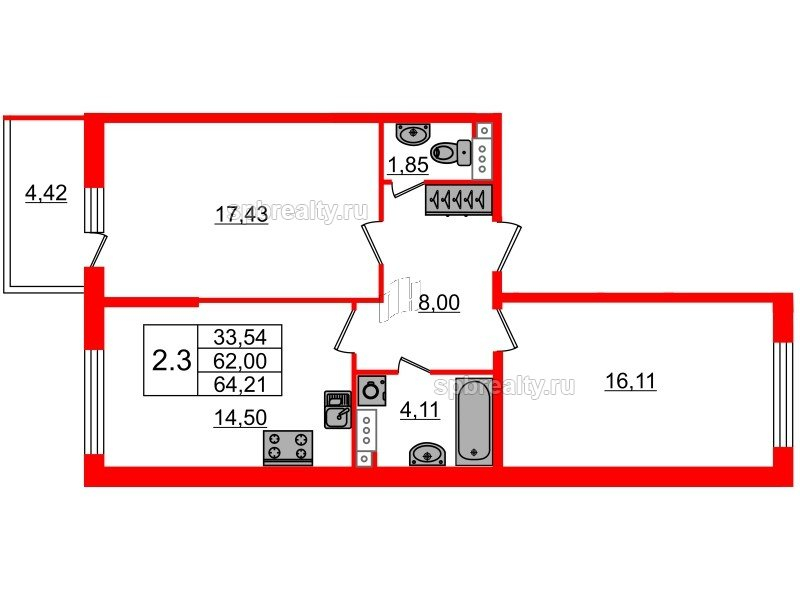 Продать Квартиры в новостройке Санкт-Петербург,  Выборгский,  Лесная, Большой Сампсониевский проспект