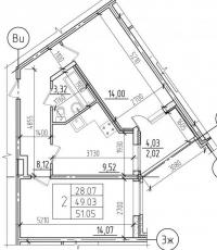 Фото планировки Чистый ручей от Петрострой. Жилой комплекс