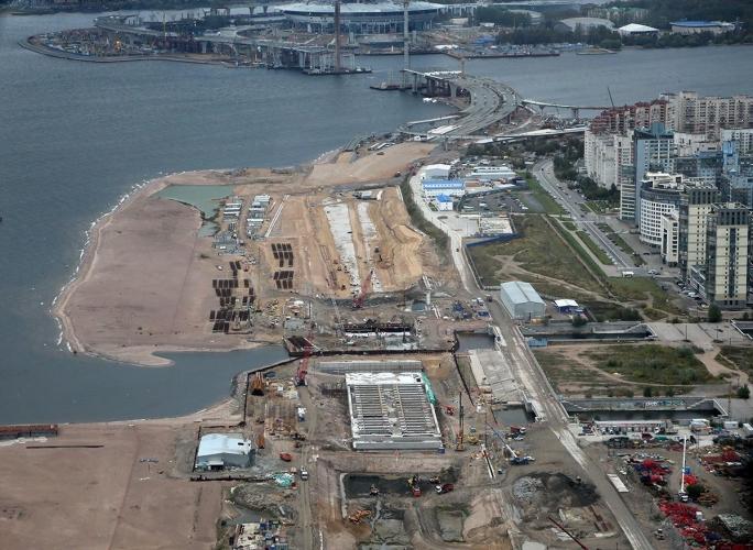Правительство Петербурга планомерно сокращает водную поверхность Финского залива