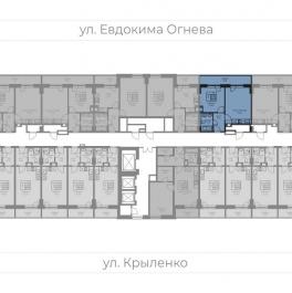 Продажа 1-комн квартиры в новостройке Крыленко улица,  д. 14