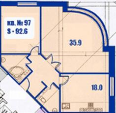 Фото планировки Династия от Инвестиционно-строительная компания «Адмирал». Жилой комплекс Dinastiya