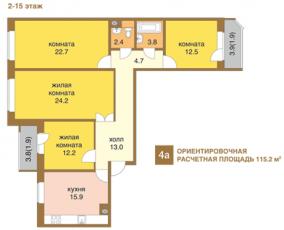 Фото планировки Резиденция Васко да Гама от VSN Realty. Жилой комплекс
