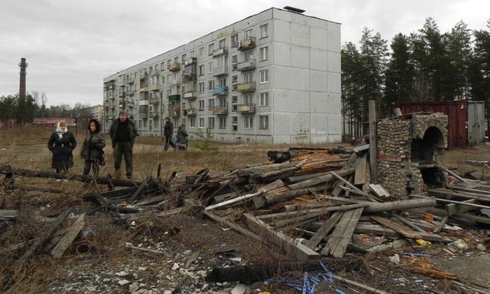 Жители поселка Саперное в Ленобласти замерзли и готовятся перекрыть федеральную трассу «Сортавала»