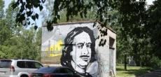 В районе Пороховых появилось «легальное» граффити – по заказу муниципалитета