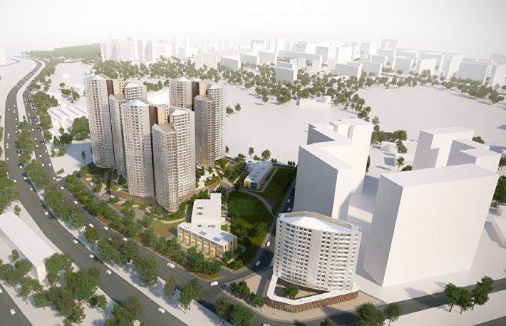 Компания «Лидер Инвест» получила разрешение на строительство МФК на улице Лобачевского на месте бывшей промзоны