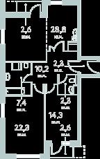 Фото планировки City Park от Концерн МонАрх. Жилой комплекс Сити Парк
