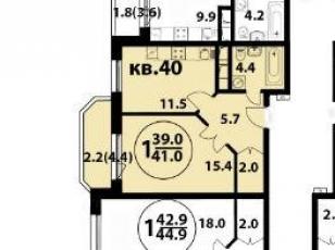 Фото планировки Изумрудная, 24 от Бэсткон. Жилой комплекс