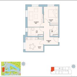 Продажа 2-комн квартиры в новостройке улица Золоторожский Вал,  д. 11